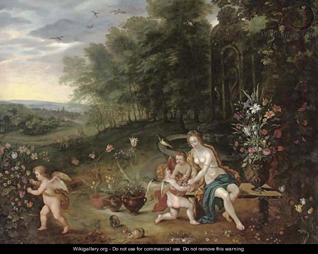 Allegory of Spring - (after) Jan, The Younger Brueghel
