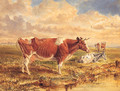 Cattle Resting In An Extensive River Landscape - Basil J. Nightingale