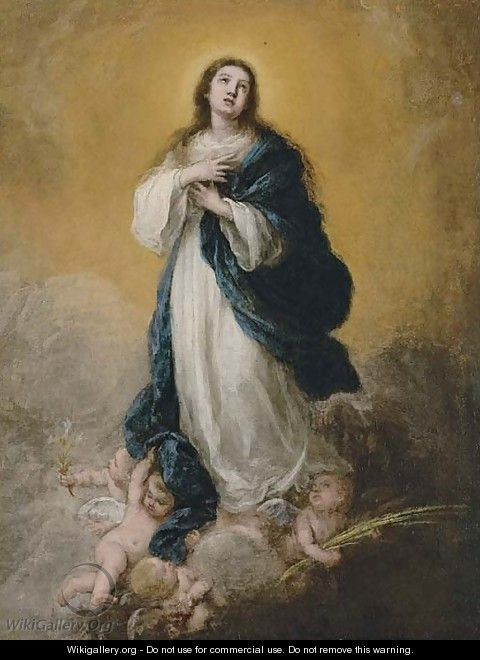 The Immaculate Conception, a modello - Bartolome Esteban Murillo