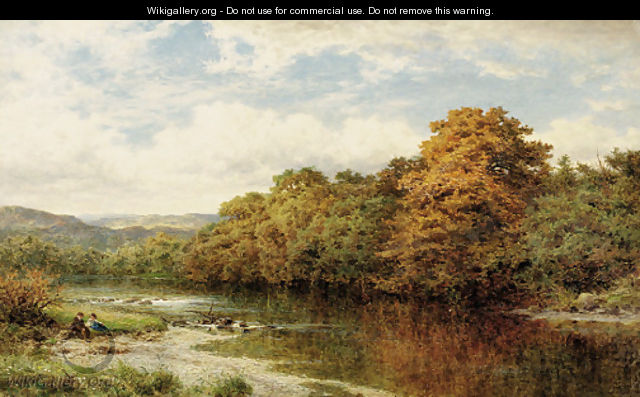 Coming autumn on Welsh river - Benjamin Williams Leader