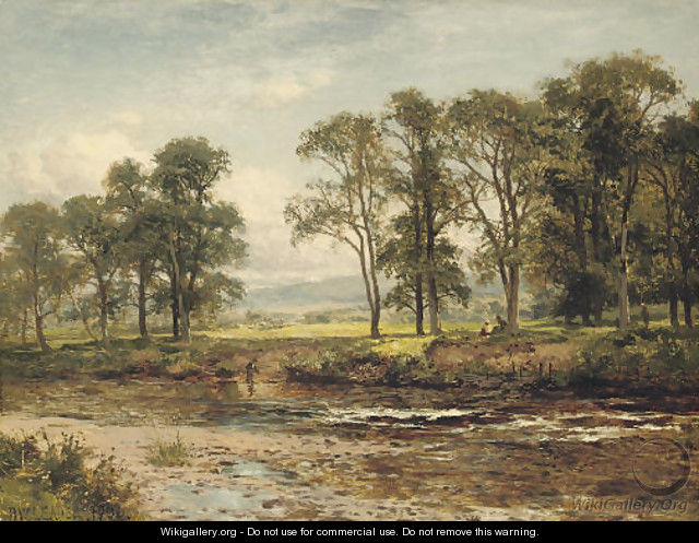 On the Conway near Betws-y-Coed - Benjamin Williams Leader