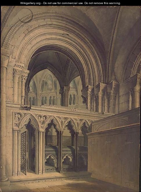 Interior of Gloucester Cathedral - Augustus Northmore Welby Pugin