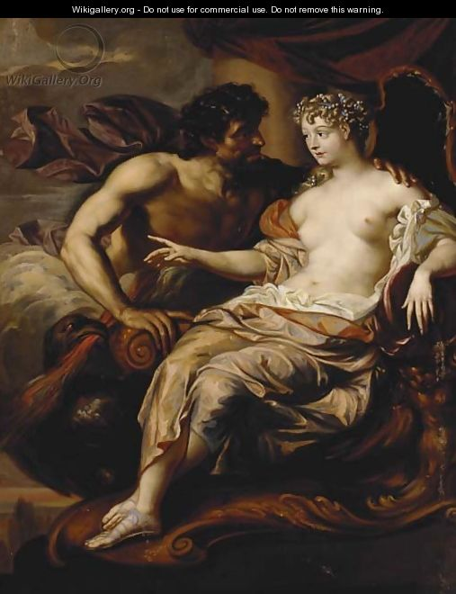Portrait of Madame de Grignan as Hebe with Jupiter at her side - Augustus Terwesten
