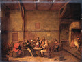 Peasants merrymaking in a tavern - Bartholomeus Molenaer