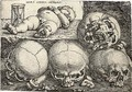 Sleeping Child with Four Skulls - Barthel Beham