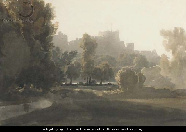 A view of Windsor Castle - (after) William Havell