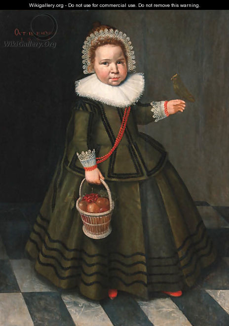 Portrait of a young girl - (after) Wybrand Simonsz. De Geest