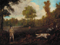 Two gentlemen shooting with their dogs - (after) Samuel John Egbert Jones