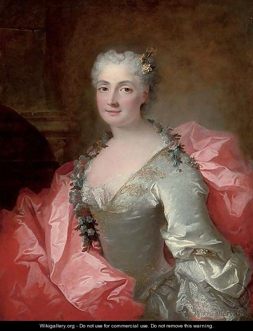 Portrait of a lady said to be Duchesse de Chateauroux - (after) Robert Tournieres