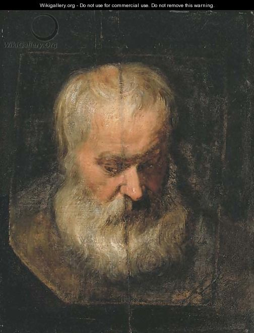 A head study of a bearded man - (after) Dyck, Sir Anthony van