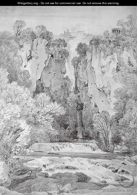 The falls at Tivoli - (after) Simon-Joseph-Alexandre-Clement Denis