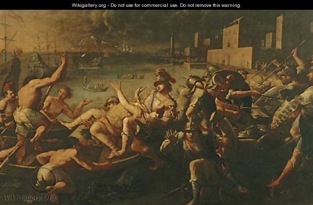 The abduction of Helen of Troy - (attr. to) Compagno, Scipione