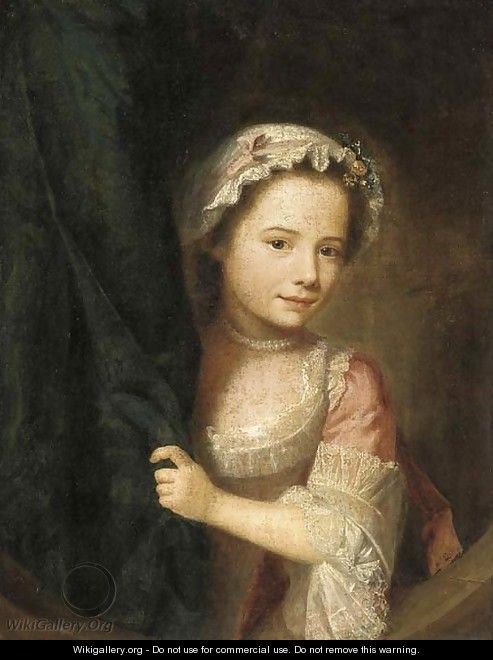 Portrait of a young girl - (after) Nathaniel Hone