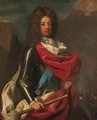 Portrait of John Churchill, 1st Duke of Marlborough (1650-1722), three-quarter-length, in armour with a red ermine trimmed robe - (after) Dahl, Michael