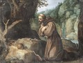 Saint Francis in the wilderness - (after) Paul Bril