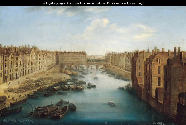 A view of the Pont Neuf, Paris - (after) Orazio Grevenbroeck