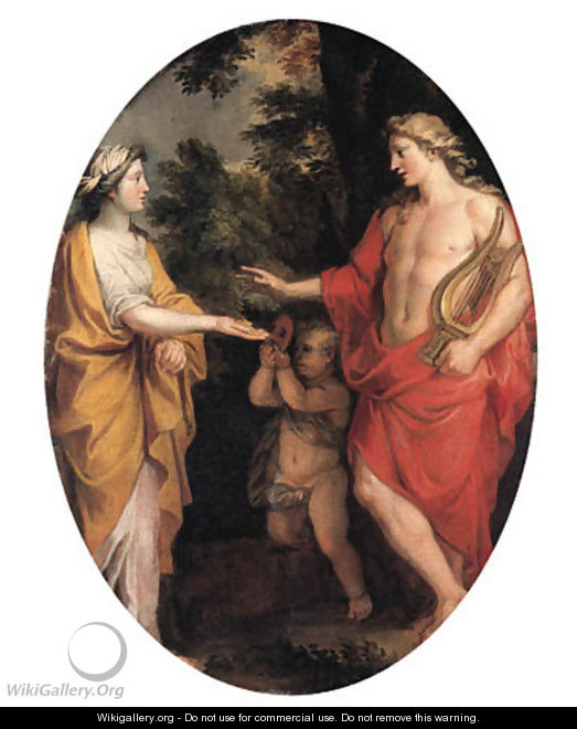 Apollo and the Cumaean Sibyl - (after) Noel-Nicolas Coypel