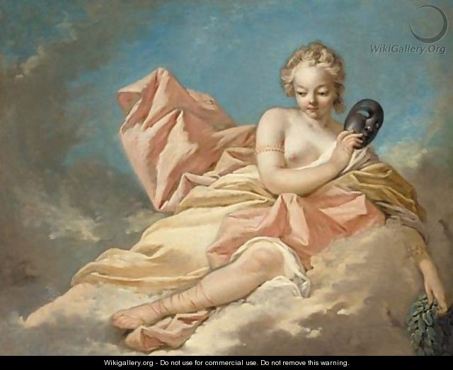 The Muse Melpomene - (after) Nicolas Rene Jollain