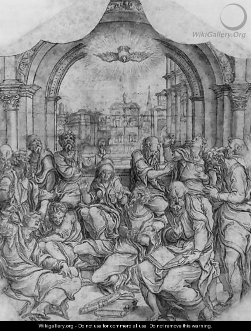Pentecost - (after) Pieter Coecke Van Aelst