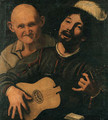 A guitar player and an old man attending - (after) Pietro Paolini