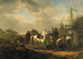 Travellers resting by a Farrier's Booth - (after) Pieter Wouwermans Or Wouwerman