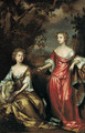 Portrait of two ladies of the Conyngham family - (after) John Vandervaart