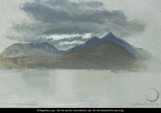 A lakeland landscape - (after) John Ruskin