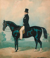 A gentleman seated on a black horse - (after) Joshua Dighton