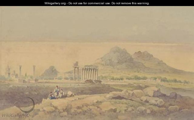 The Temple of Olympian Zeus, Athens - (after) Joseph Schranz