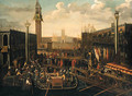 Venice The embarkation of the Doge on the Bucintoro on Ascension Day - (after) Joseph, The Younger Heintz