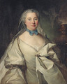 Portrait of a lady thought to be Marie Louise Heudey de Pommainville - (after) Louis Tocque