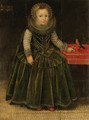 Portrait of a young Girl - (after) Marcus The Younger Gheeraerts