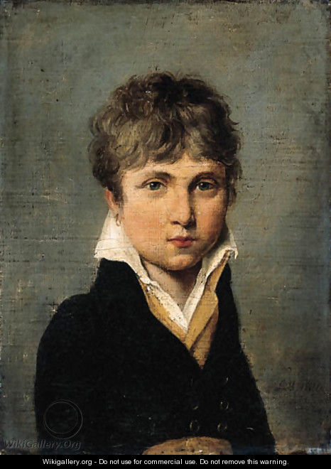 Portrait of a young man - (after) Louis Leopold Boilly