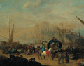 Merchants at a Mediterranean port - (after) Jan Baptist Van Der Meiren