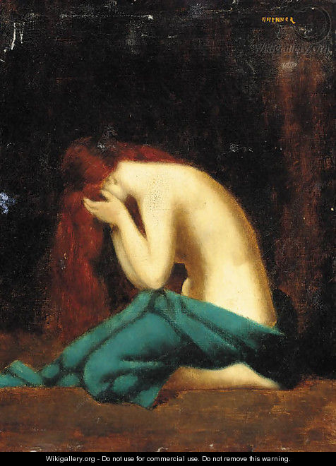The distraught woman - (after) Jean-Jacques Henner