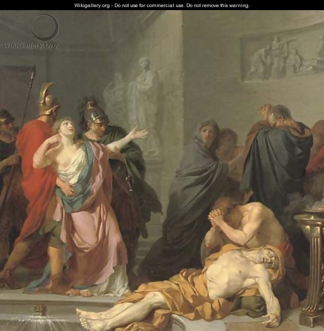 The Death of Seneca - (after) Jean Charles Nicaise Perrin