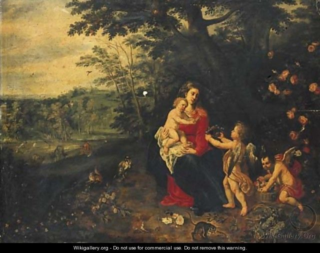 The Rest on the Flight into Egypt - (attr. to) Kessel, Jan van