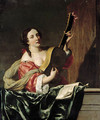 A lady playing a guitar on a balcony - (after) Johannes Van Bronckhorst