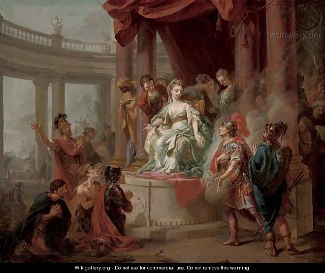 The Meeting of Dido and Aeneas - (after) Johann Heinrich The Elder Tischbein