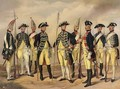 The Prussian Military in circa 1786 Soldiers of the Infantry and Artillery - (after) Gustav Schwartz Or Schwarz