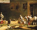 Peasants making silk carrying and spreading cocoons - (after) Giuseppe Maria Crespi