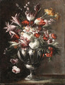Flowers in a Vase - (after) Giuseppe Lavagna