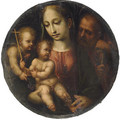 The Holy Family with the Infant Saint John the Baptist - (after) Girolamo Del Pacchia