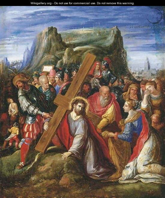 Christ on the Way to Calvary - (after) Hieronymus II Francken