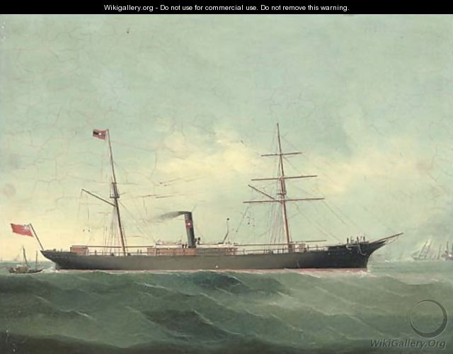 A brigantine-rigged steamer, owned by Crow, Rudolf of Liverpool - Chinese School