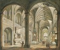 The interior of a cathedral - Christian Stocklin