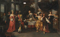 Elegant company at a table - Christoffel Jacobsz van der Lamen
