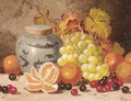 Oranges, cherries, grapes, and a ginger jar - Charles Thomas Bale