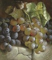 Grapes on a stone step - Charles Stuart