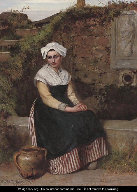 Resting beside the well - Charles Sillem Lidderdale